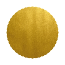Podložky lepenkové 40 cm - zlaté, 5 ks