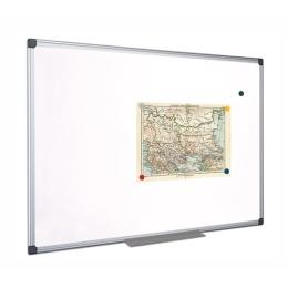 Biela, magnetická, utierateľná tabuľa, hliníkový rám, 45 x 60 cm