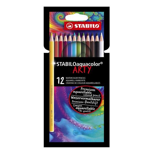Pastelky šesťhranné STABILO Aquacolor Arty 12 ks