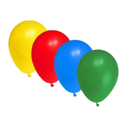 Balón L 30 cm, farebný mix /10 ks/