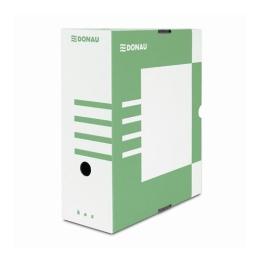 Archívny box, A4, 120 mm, kartón, DONAU, zelený