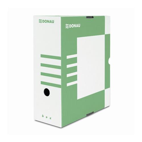 Archívny box A4 / 120 mm, kartón, DONAU, zelený