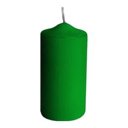 Sviečka valcová 40 x 80 mm, tm. zelená (4 ks v bal.)