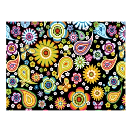 Obal PP s patentkou A4, Colorful Flowers