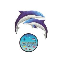 Sticker na tašku Dolphins, sada 2 ks