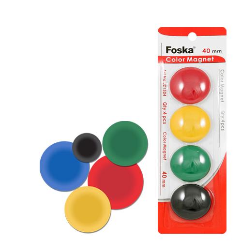 Magnetky - farebné, 40 mm/4 ks