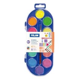 Farby vodové MILAN  - 12 farieb, 30mm