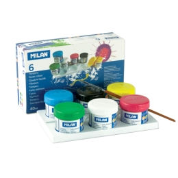 Box 6 poster colour jars 40ml assorted