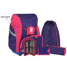 Školská taška - 7-dielny set, PRO LIGHT PREMIUM Pegasus, LED
