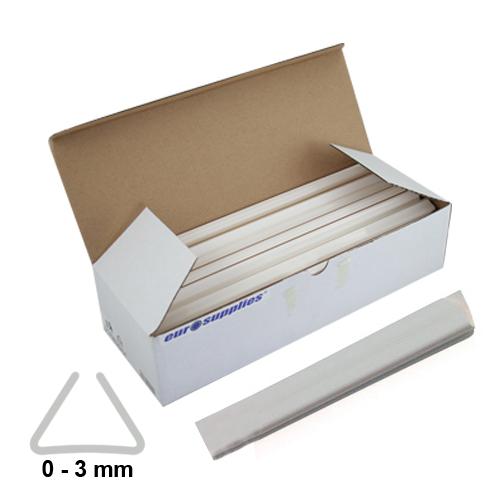 Násuvné lišty Relido 0-3 mm biele / 50ks