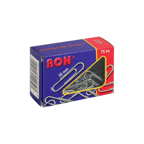 Spony kanc. 32 mm, 75 ks