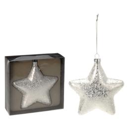 Vianočná ozdoba - PP strieborná - hviezda 15 cm, 1ks