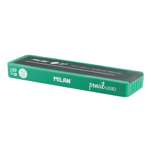 Grafitové tuhy MILAN 2B/0,9 mm, 12 ks