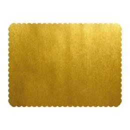 Podložky lepenkové 30x40 cm - zlaté, 25 ks