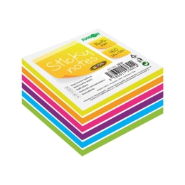 Blok/kocka samolepiaca Sticky Notes - Neon/White 76x76 mm/400 l.