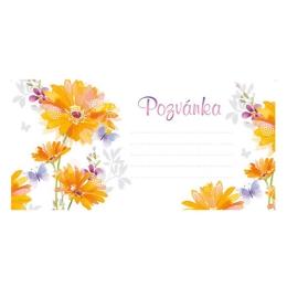 Pozvánka na párty H /2403-0007/ Summer Flowers - sada 10 ks