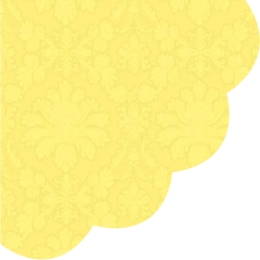 Obrúsky PAW R 32 cm Inspiration Perforated Yellow
