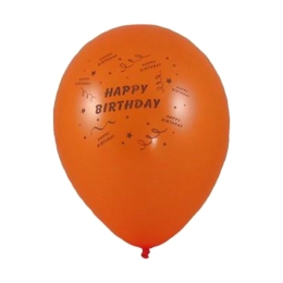 Balón M 25 cm, Happy Birthday /100 ks/