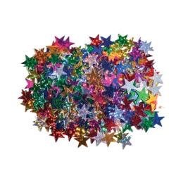 Dekorácia hviezdy mix farieb 15 mm 14 g