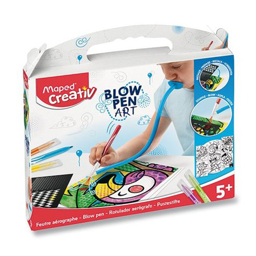 Kreatívna sada MAPED CREATIV Blowpen Pop Art, sada 6 ks