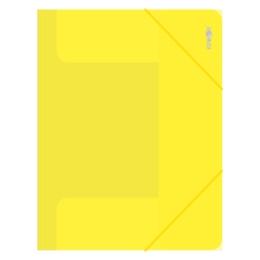 Zakladacia mapa s gumičkou PP/A4, priehľadná/žltá