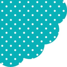 Obrúsky PAW R 32 cm Dots Turquoise