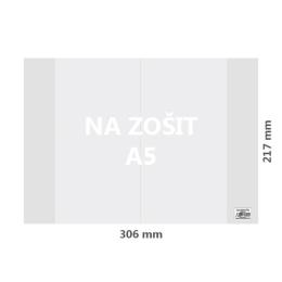 Obal na zošit A5 PVC 306x217 mm, hrubý/transparentný, 10 ks