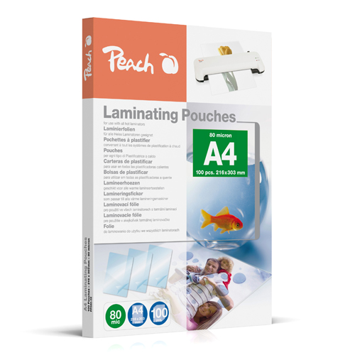 Laminovacie fólie Peach A4 216 x 303 mm, 80mic / bal. 100 ks