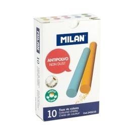 Krieda MILAN guľatá farebná bezprašná 10 ks