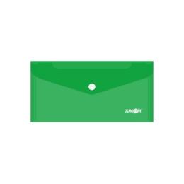 Obal s patentkou PP/DL, priehľadný/ zelený