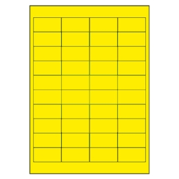 Etikety PRINT A4/100 ks, 48,5x25,4 - 40 etikiet, žlté