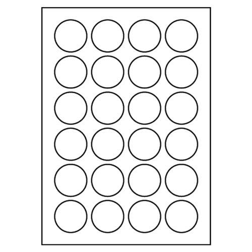 Etikety PRINT A4/100 ks, kruhové 40 - 24 etikiet, biele
