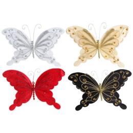Motýľ na klipe 20 cm - mix farieb, 1ks