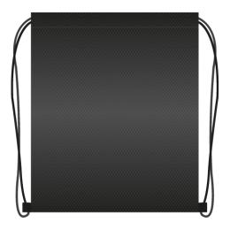 Vrecko na prezuvky 41x34 cm - čierne