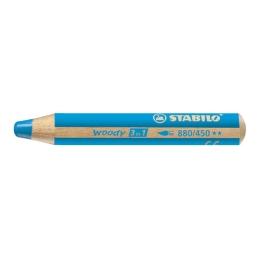 Pastelka STABILO woody 3 in 1 cyan blue
