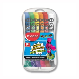 Temperové farby MAPED Paint, 12x12 ml + plast. box