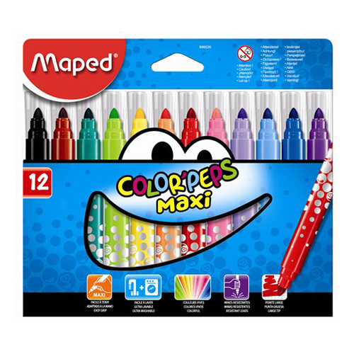 "Fixy MAPED ""COLOR`PEPS MAXI"", 12 ks"