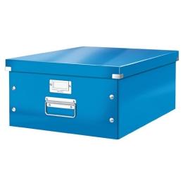 "Archivačná krabica, A3, lakový lesk, LEITZ ""Click&Store"", modrá"