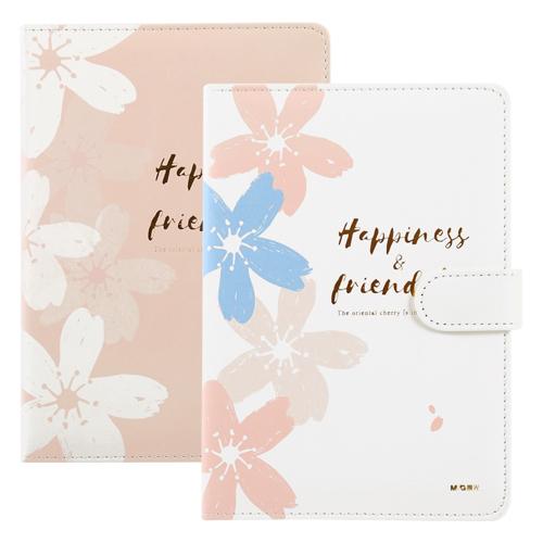 Univerzálny diár M&G Cherry Blossom s magnetom 125x180 mm, 112-listový, mix