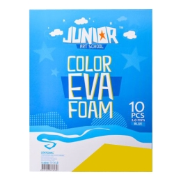 Dekoračná pena A4 EVA žltá hrúbka 2,0 mm, sada 10 ks