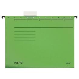 "Závesná zakladacia doska, kartón, A4, LEITZ ""Alpha"", zelená"
