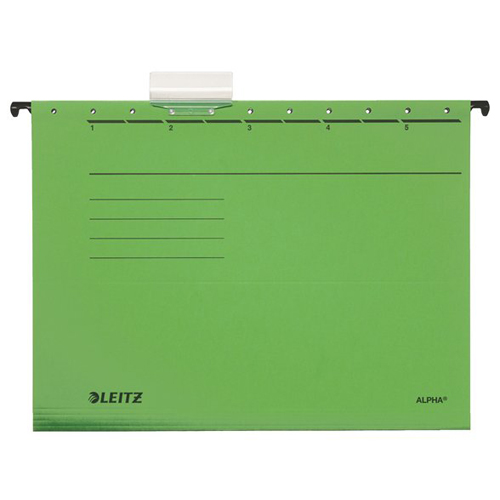 """Závesná zakladacia doska, kartón, A4, LEITZ """"Alpha"""", zelená  /25ks"""