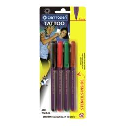 Popisovač CENTROPEN 2880 TATTOO - tetovacia súprava/sada 4 ks