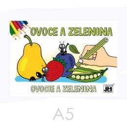 Omaľovánka JM A5 Ovocie a zelenina