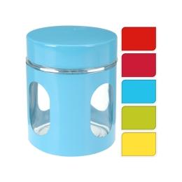 Dóza - sklenená 10x12 cm, mix farieb, 1ks