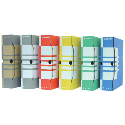 Archívny box A4 / 100 mm, kartónový, DONAU, modrý