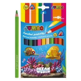 Pastelky Ocean World trojhrané JUMBO 12 ks
