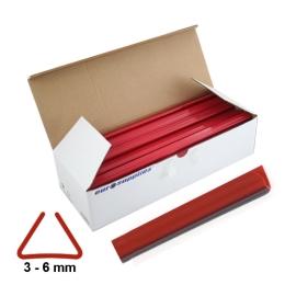 Násuvné lišty Relido 3-6 mm červené