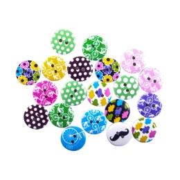 Dekoračné gombíky mix motív 20 ks 15 mm