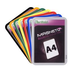 "Magnetické vrecko, magnetická zadná strana, A4, TARIFOLD ""Magneto Solo"", strieborné"
